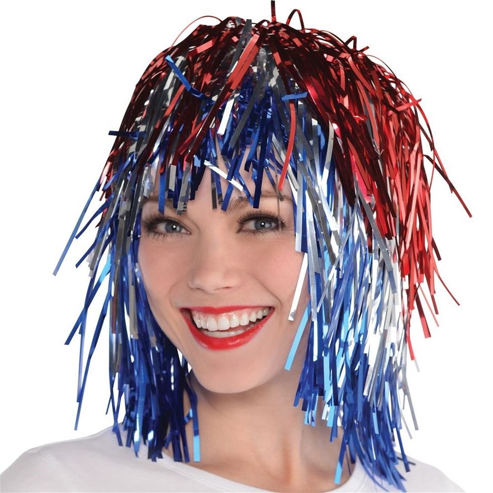 Picture of Patriotic Tinsel Wig