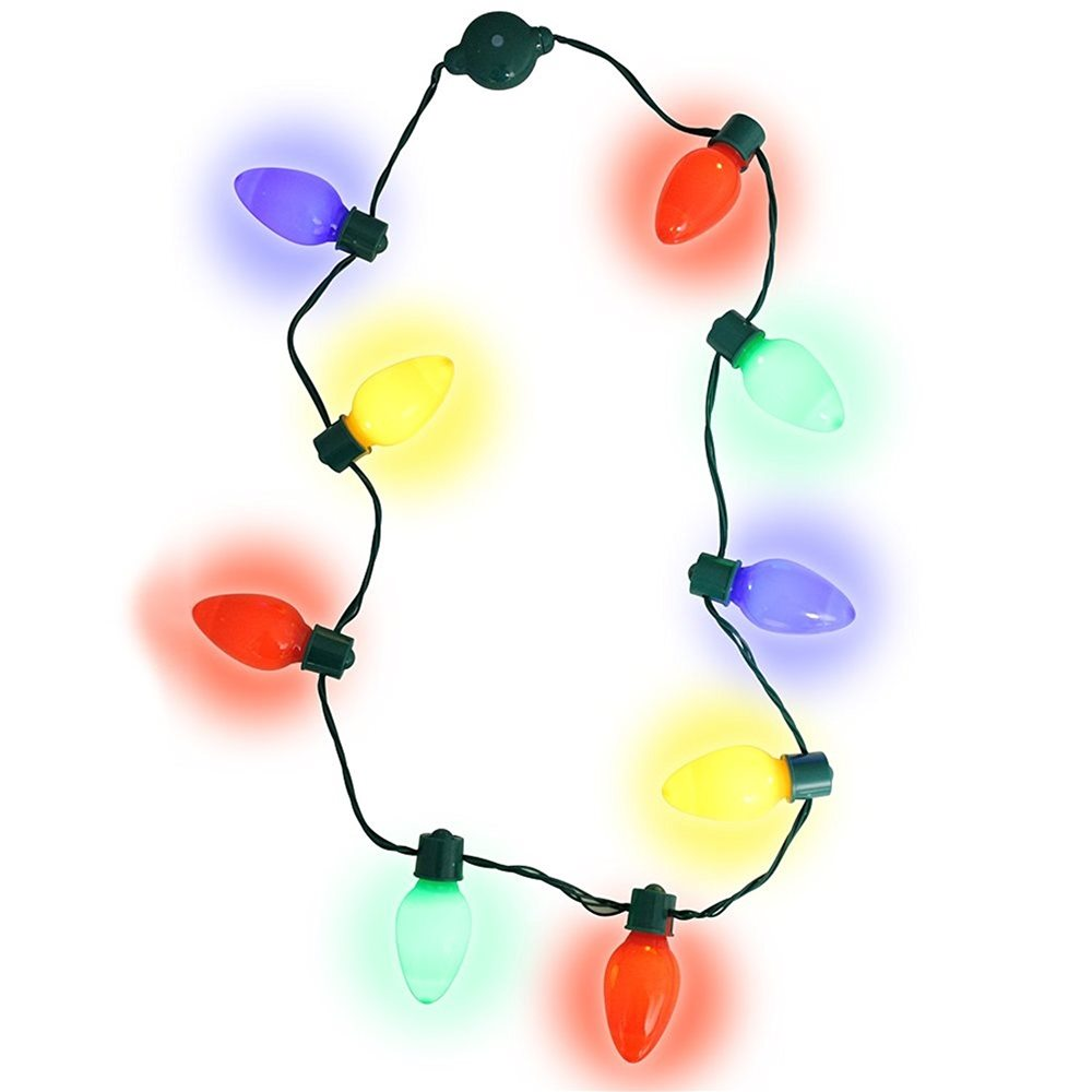 Picture of Light-Up Christmas Bulb Necklace