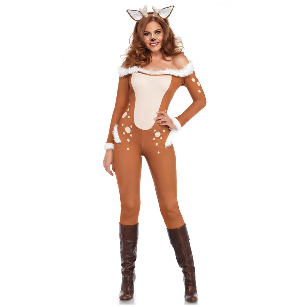 Picture of Darling Deer Jumpsuit Adult Womens Costume