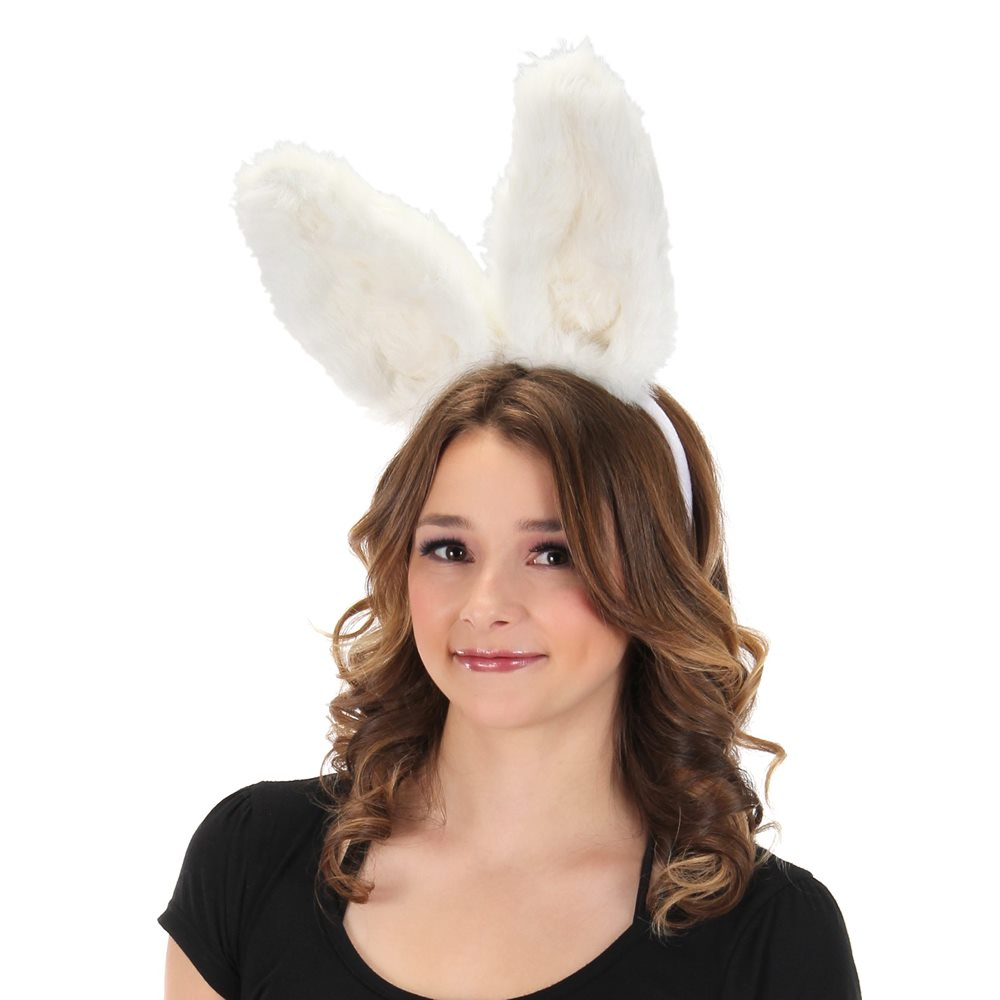 Picture of White Bendy Bunny Ears Headband