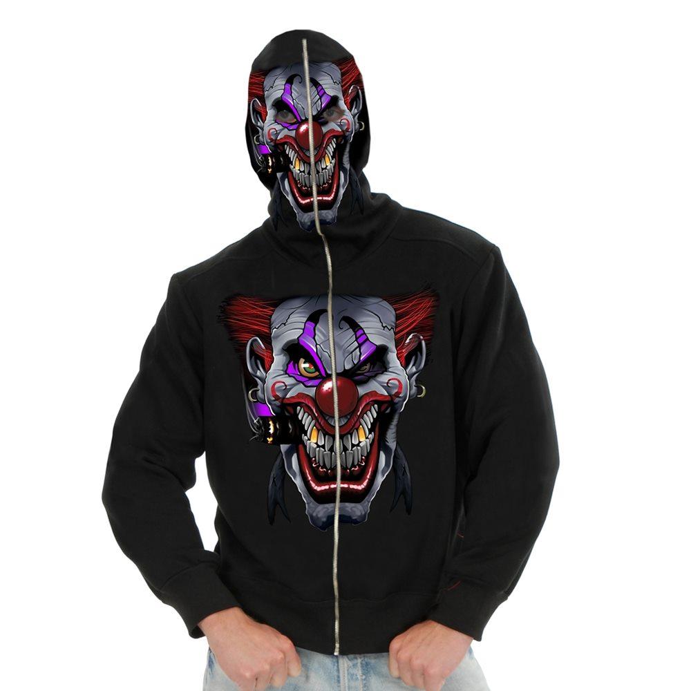 Picture of Evil Clown Adult Mens Hoodie