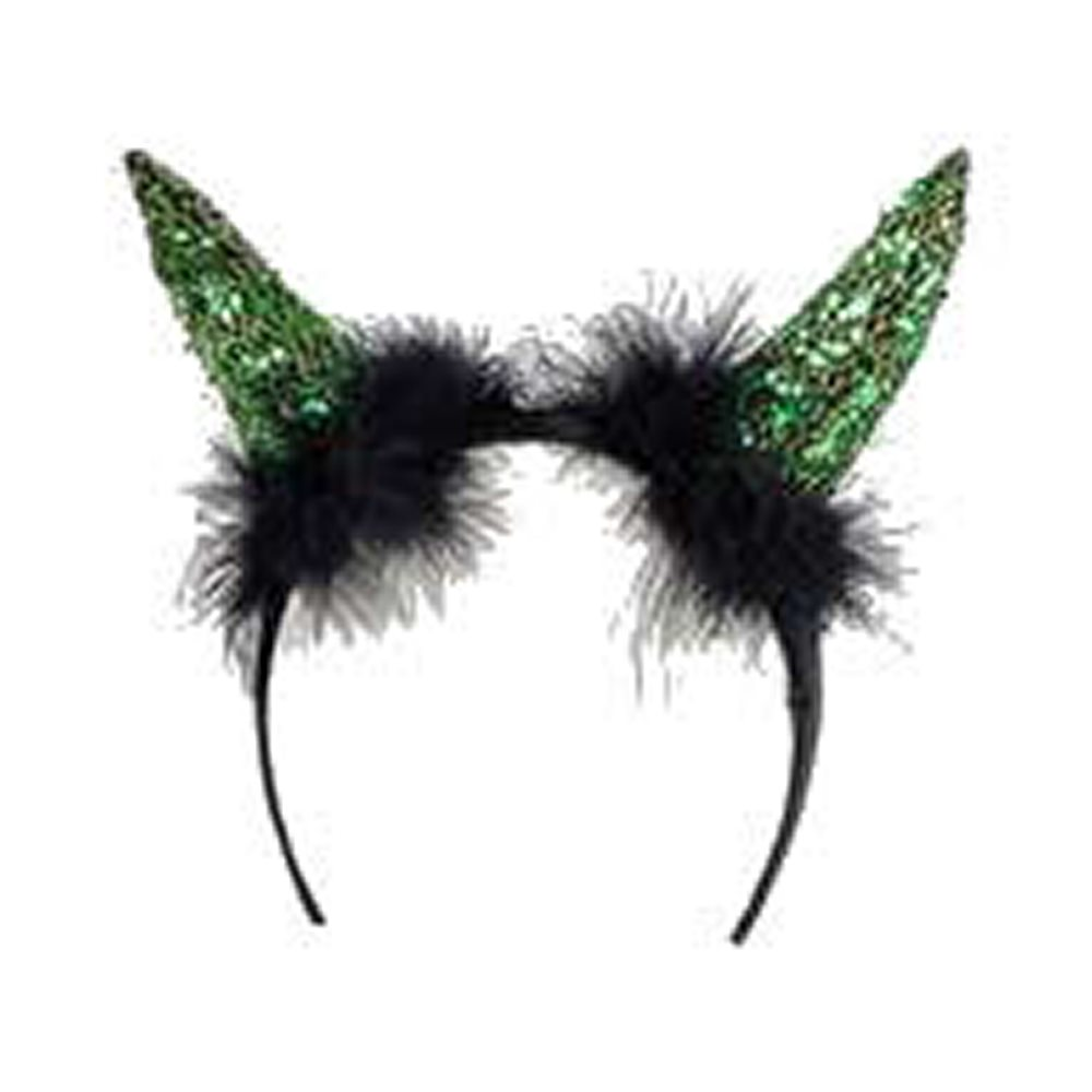 Picture of Green Glitzy Horn Headband