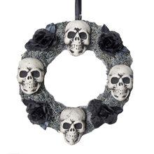 Picture of 4 Skulls Halloween Wreath