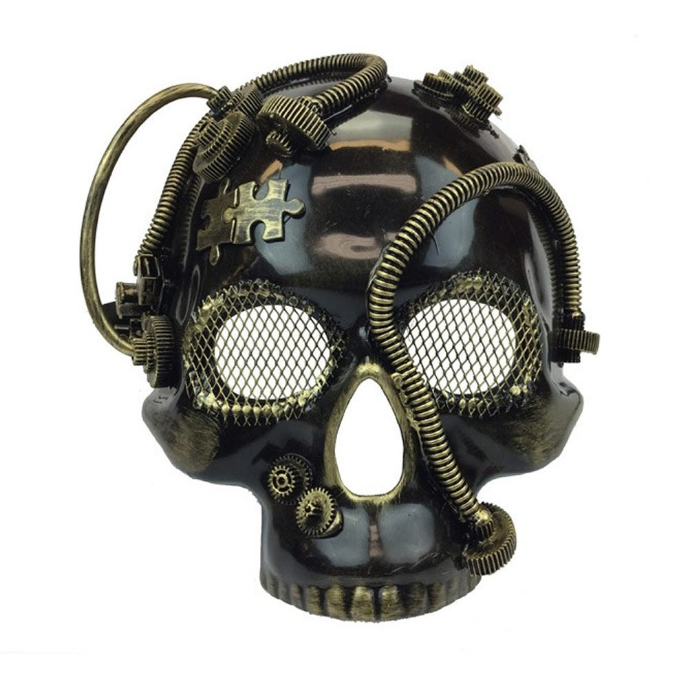 Picture of Steampunk Gold Skull Mask