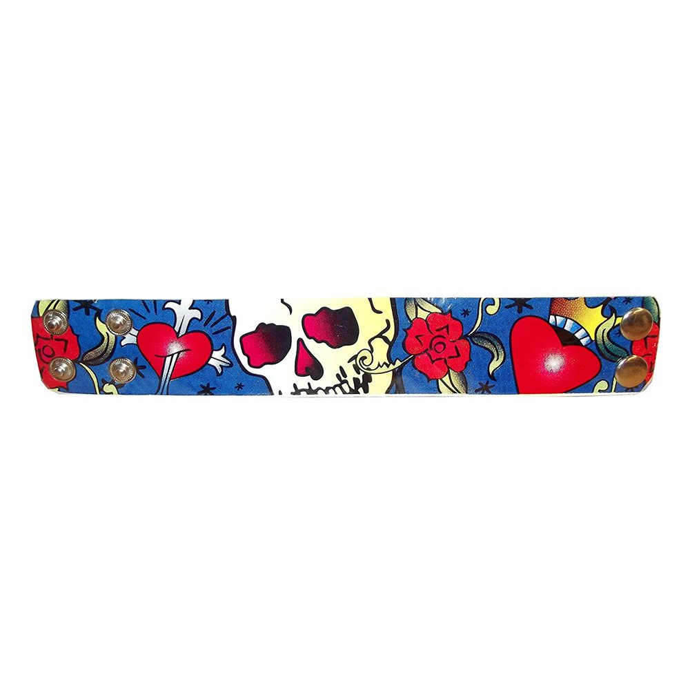 Picture of Tattoo Style Skull Bracelet