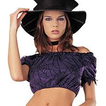 Picture of Witch Spider Web Junior Crop Top