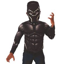 Picture of Black Panther Muscle Chest Shirt & Mask Child Set