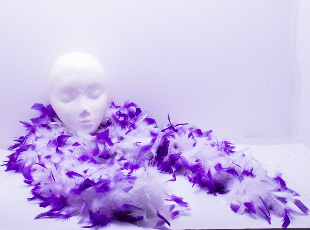 Picture of White & Purple 2-Tone Boa