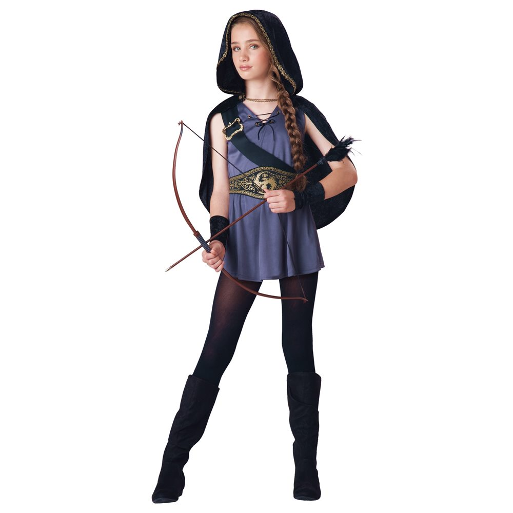 Picture of Hooded Huntress Tween Costume