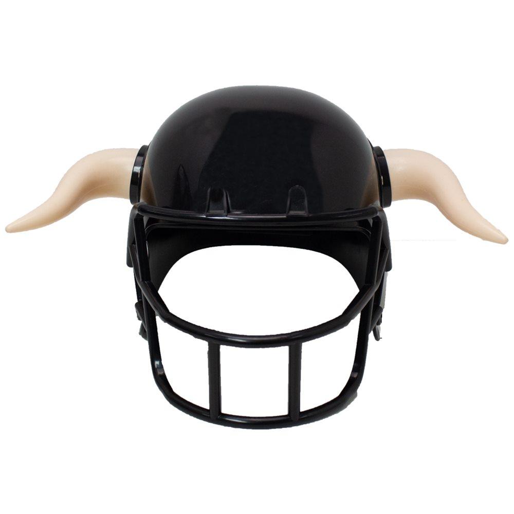 Picture of Black Football Horned Helmet