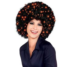 Picture of Black Fiber Optic Afro Wig