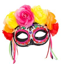 Picture of Day of the Dead Colorful Masquerade Mask