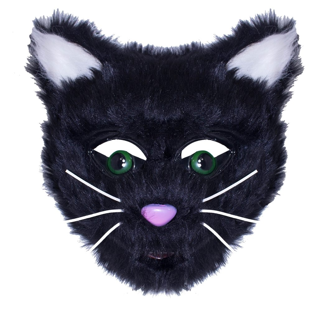 Picture of Furry Black Cat Mask