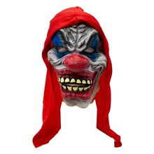 Picture of Crazy Clown Latex Mask with Long Hair