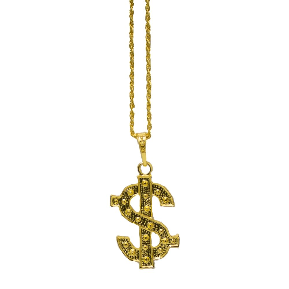 Picture of Gold Dollar Sign Necklace