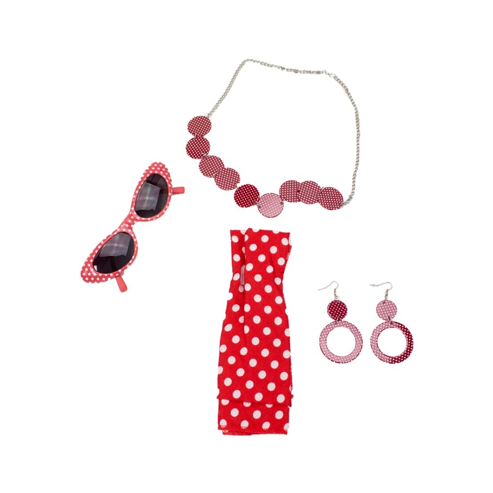Picture of 60s Beauty Polka Dot Accessory Kit