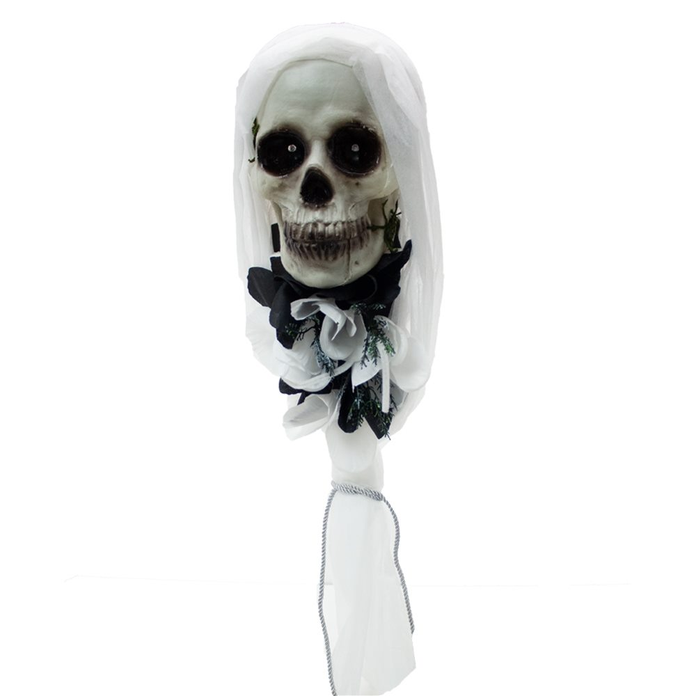 Picture of White Hanging Skeleton Head