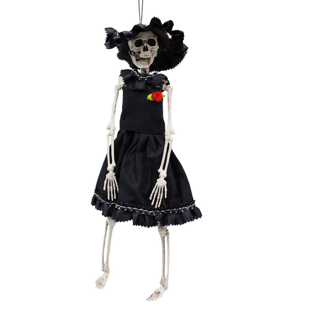 Picture of Hanging Skeleton Bride 16in