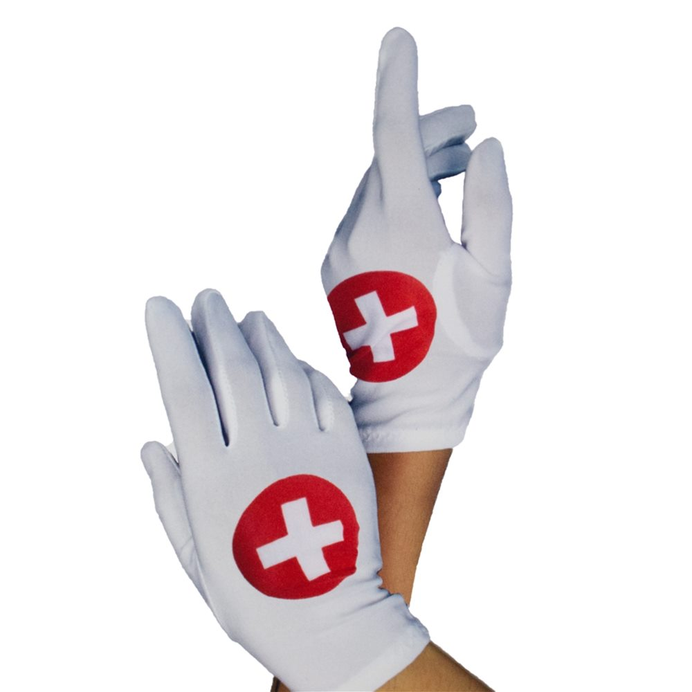 Picture of White Nurse Short Gloves