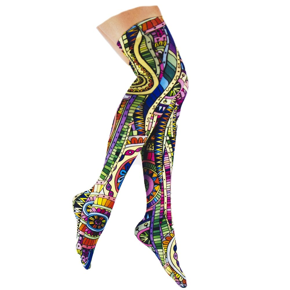 Picture of Mosaic Thigh Highs