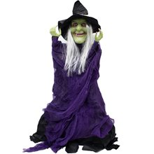 Picture of Standing Black & Purple Witch Prop