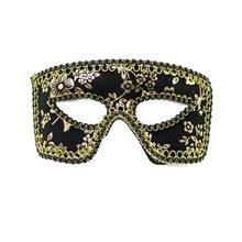 Picture of Black & Gold Glitter Zorro Mask