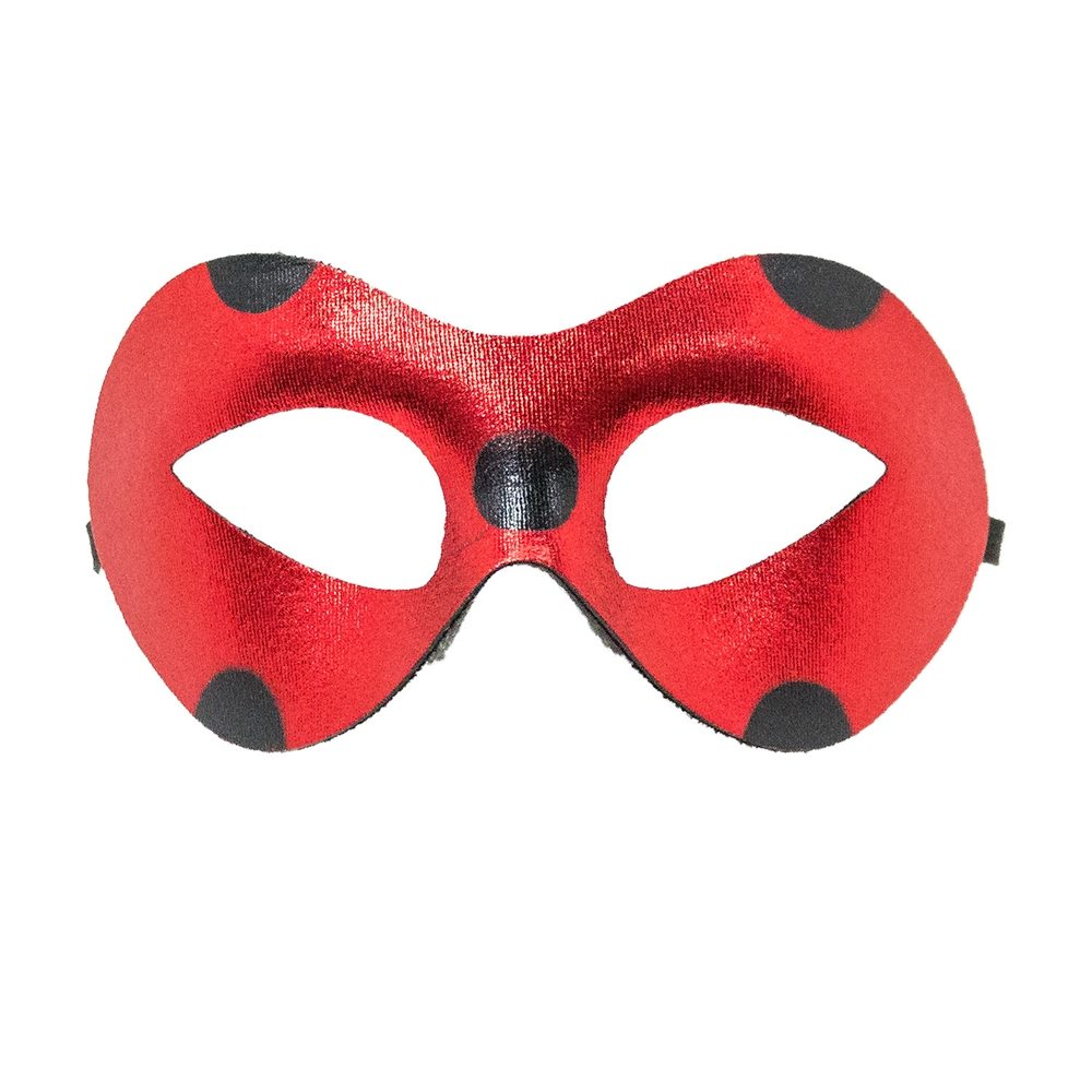 Picture of Red Eye Mask with Black Dots