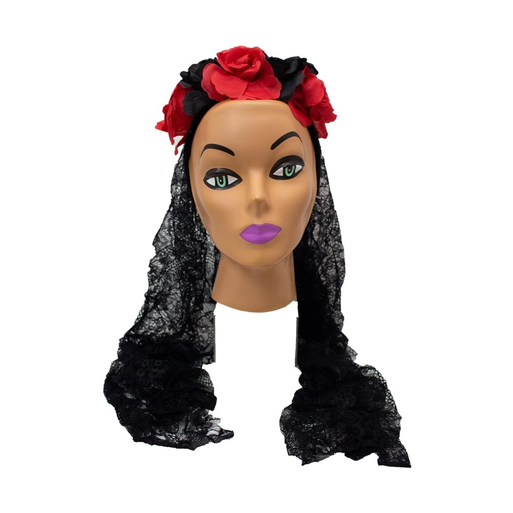 Picture of Ghost Bride Black Veil Headband