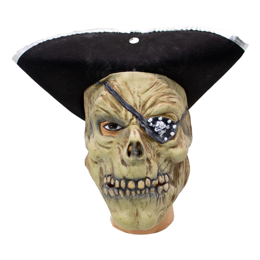 Picture of Pirate Latex Mask with Hat