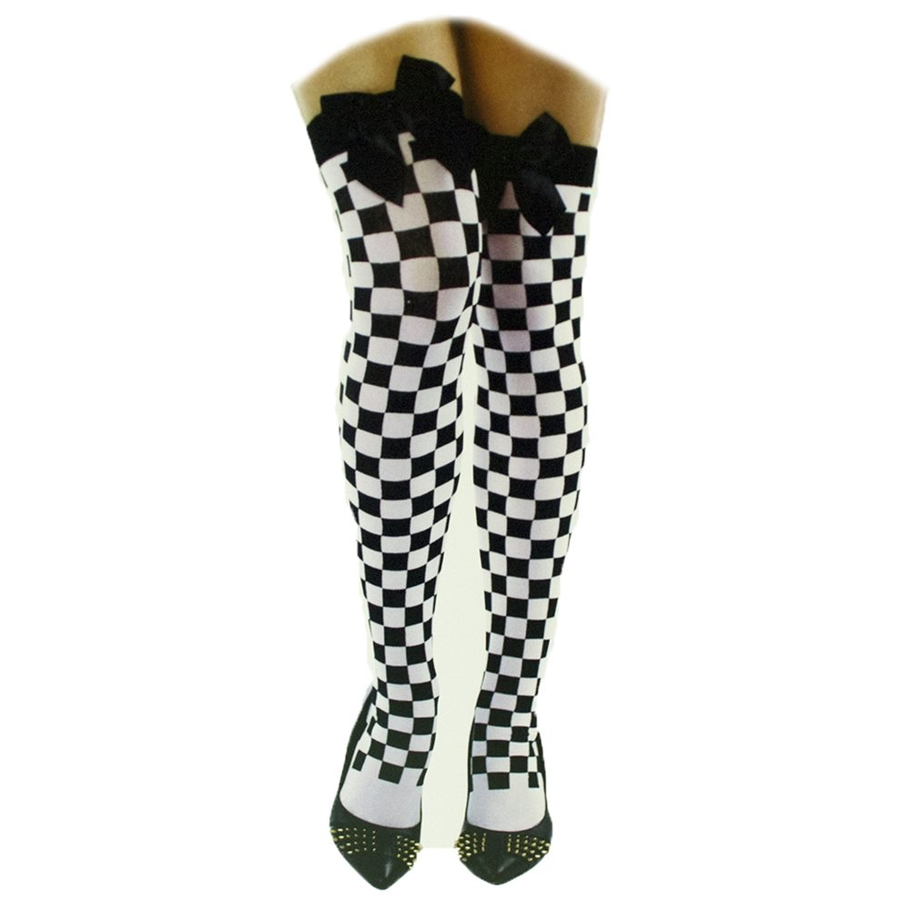 Picture of Checkers & Bows Thigh Highs