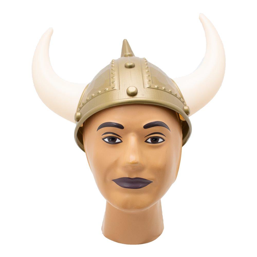 Picture of Gold Viking Horned Helmet