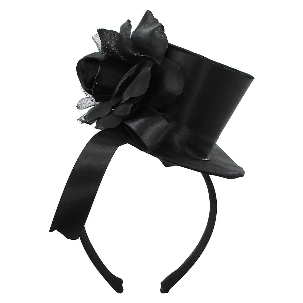 Picture of Gothic Top Hat with Rose Headband