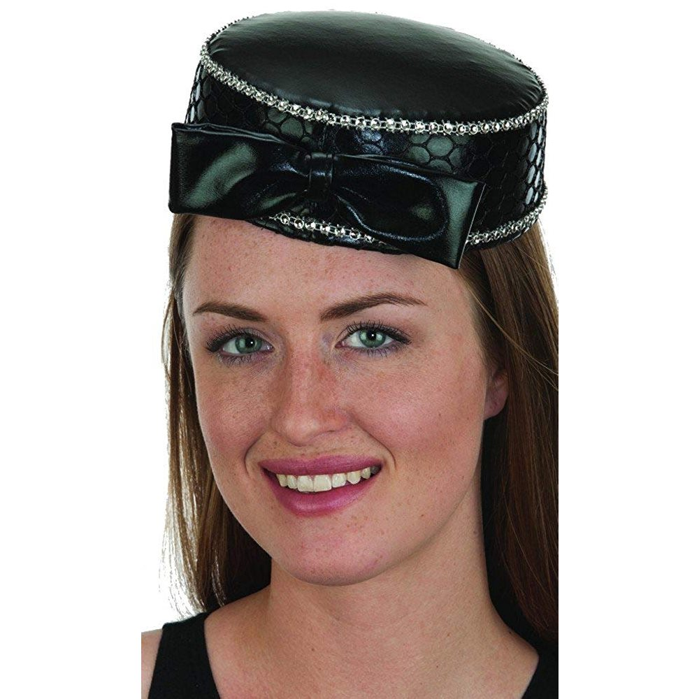 Picture of Satin Pill Box Hat with Jewels