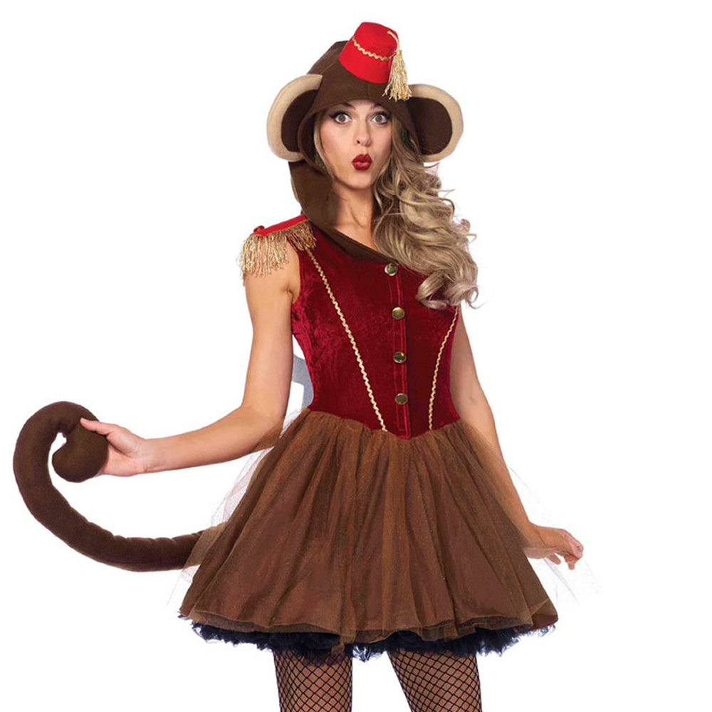 Picture of Wind-Up Monkey Adult Womens Costume