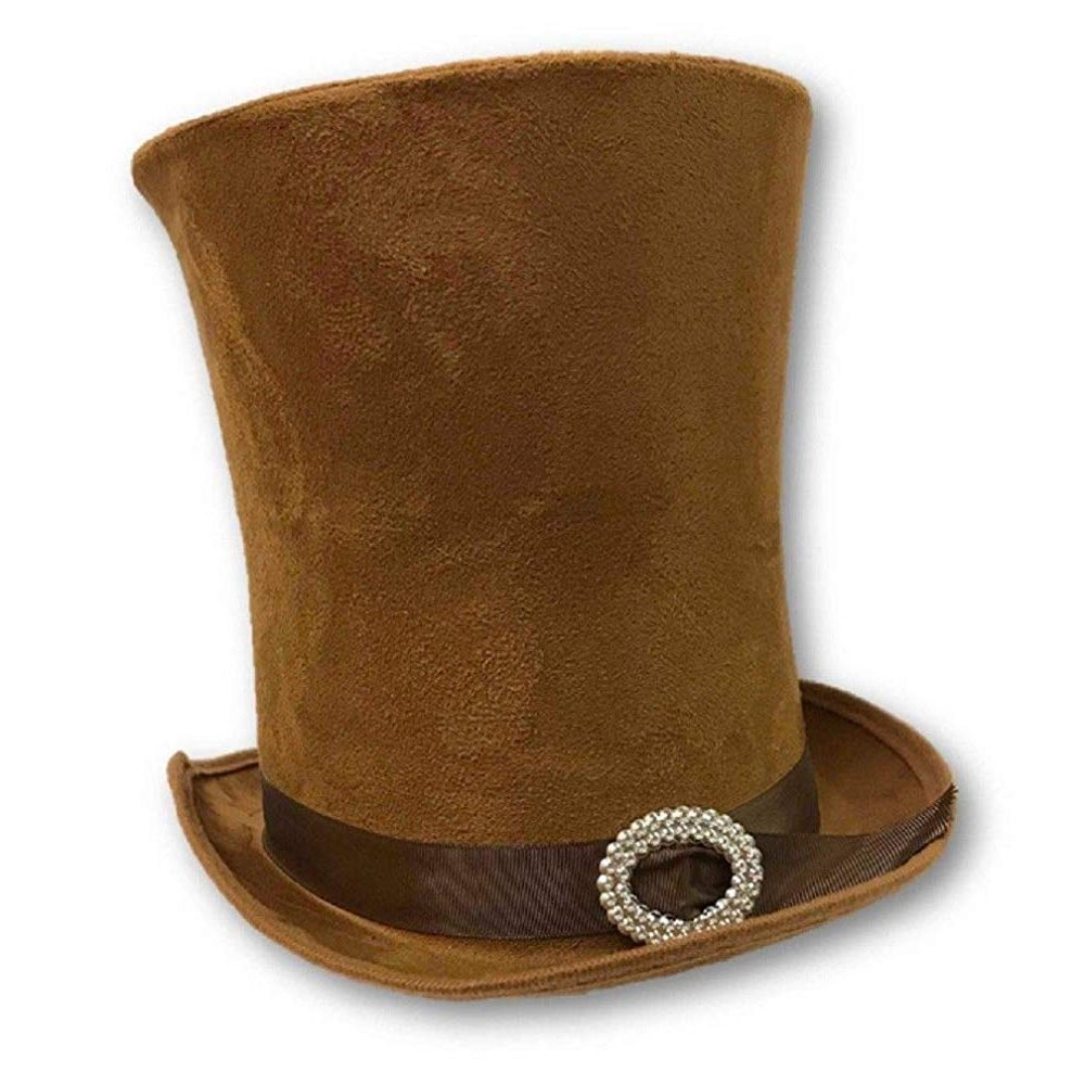 Picture of Tan Top Hat with Jeweled Buckle