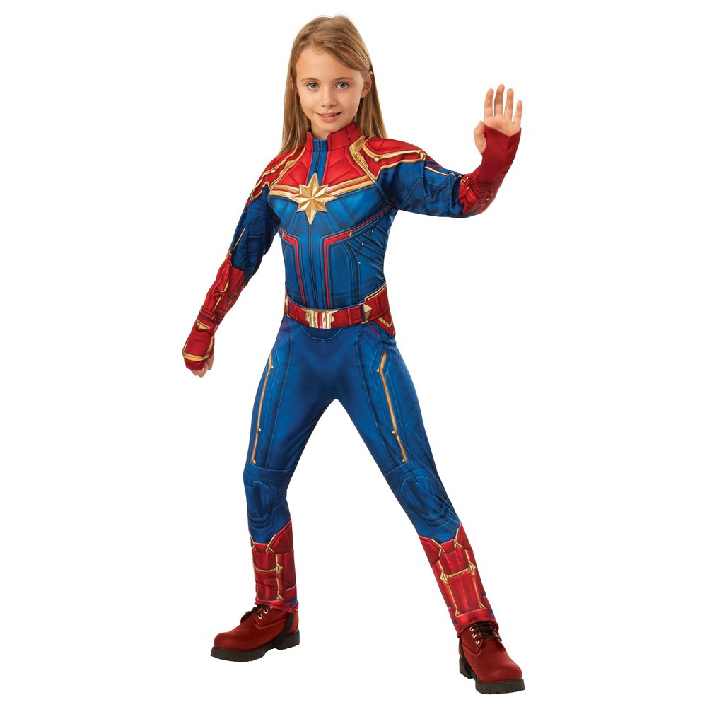 Picture of Captain Marvel Deluxe Hero Suit Child Costume